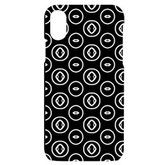 Black And White Pattern Iphone X/xs Black Uv Print Case