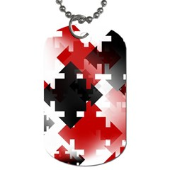 Black And Red Multi Direction Dog Tag (one Side) by Vaneshart