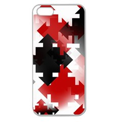 Black And Red Multi Direction Apple Seamless Iphone 5 Case (clear)