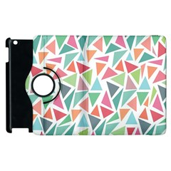Colorful Triangle Vector Pattern Apple Ipad 3/4 Flip 360 Case