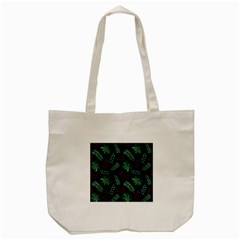 Tropical Leaves Pattern Tote Bag (cream) by Vaneshart