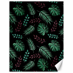 Tropical Leaves Pattern Canvas 12  X 16