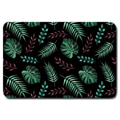 Tropical Leaves Pattern Large Doormat  by Vaneshart