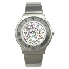 Mixed Dollars Stainless Steel Watch by Vaneshart