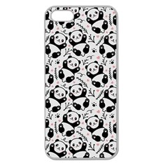 Panda Pattern Apple Seamless Iphone 5 Case (clear)