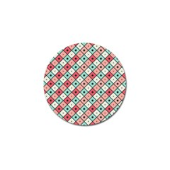 Romboidal Vector Pattern Golf Ball Marker (4 Pack) by Vaneshart