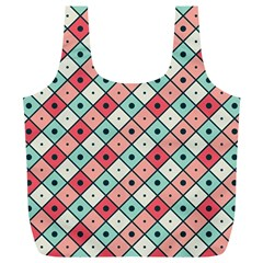 Romboidal Vector Pattern Full Print Recycle Bag (xl)