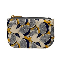 Blue And Ochre Mini Coin Purse