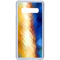 Abstract Paint Smears Samsung Galaxy S10 Plus Seamless Case(white) by Vaneshart