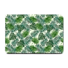 Leaves Tropical Wallpaper Foliage Small Doormat  by Vaneshart