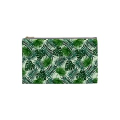 Leaves Tropical Wallpaper Foliage Cosmetic Bag (small)