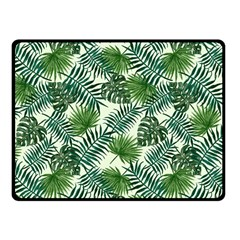 Leaves Tropical Wallpaper Foliage Fleece Blanket (small) by Vaneshart