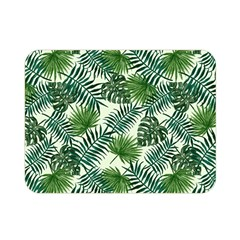 Leaves Tropical Wallpaper Foliage Double Sided Flano Blanket (mini)  by Vaneshart