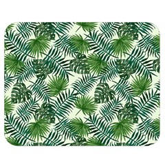 Leaves Tropical Wallpaper Foliage Double Sided Flano Blanket (medium)  by Vaneshart