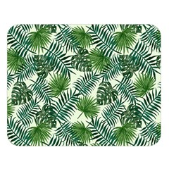 Leaves Tropical Wallpaper Foliage Double Sided Flano Blanket (large)  by Vaneshart