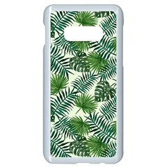 Leaves Tropical Wallpaper Foliage Samsung Galaxy S10e Seamless Case (white)