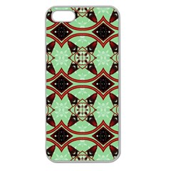 Christmas Pattern Apple Seamless Iphone 5 Case (clear) by Vaneshart
