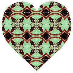 Christmas Pattern Wooden Puzzle Heart