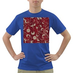 Floral Pattern Background Dark T Shirt