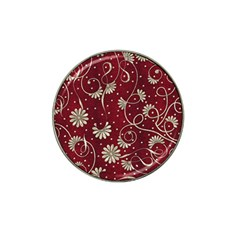 Floral Pattern Background Hat Clip Ball Marker
