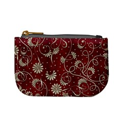 Floral Pattern Background Mini Coin Purse