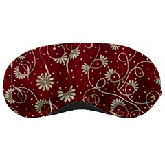 Floral Pattern Background Sleeping Mask