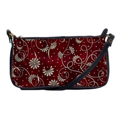 Floral Pattern Background Shoulder Clutch Bag