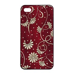 Floral Pattern Background Iphone 4/4s Seamless Case (black)
