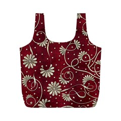 Floral Pattern Background Full Print Recycle Bag (m)