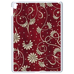 Floral Pattern Background Apple Ipad Pro 9 7   White Seamless Case