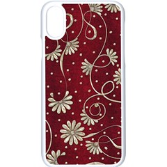 Floral Pattern Background Iphone X Seamless Case (white)