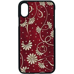Floral Pattern Background Iphone Xs Seamless Case (black)