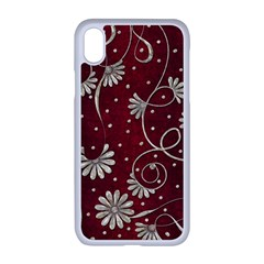 Floral Pattern Background Iphone Xr Seamless Case (white)