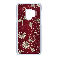 Floral Pattern Background Samsung Galaxy S9 Seamless Case(white)