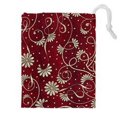 Floral Pattern Background Drawstring Pouch (3xl)