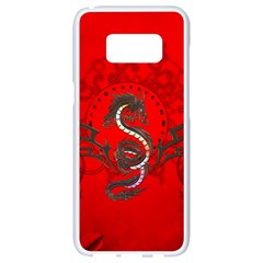 Chinese Dragon On Vintage Background Samsung Galaxy S8 White Seamless Case by FantasyWorld7