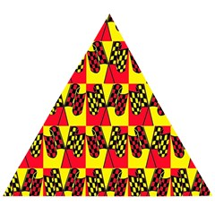 Race Flag Wooden Puzzle Triangle