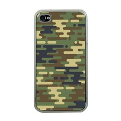 Curve Shape Seamless Camouflage Pattern Iphone 4 Case (clear)