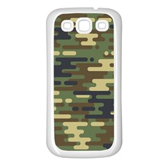 Curve Shape Seamless Camouflage Pattern Samsung Galaxy S3 Back Case (white)
