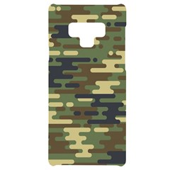 Curve Shape Seamless Camouflage Pattern Samsung Note 9 Black Uv Print Case  by Vaneshart