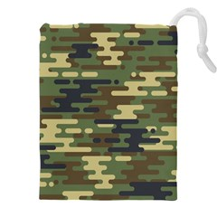 Curve Shape Seamless Camouflage Pattern Drawstring Pouch (5xl)