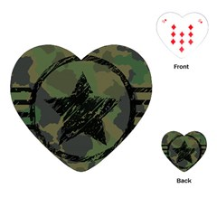 Military Camouflage Design Playing Cards Single Design (heart) by Vaneshart