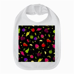 Vector Seamless Summer Fruits Pattern Colorful Cartoon Background Bib