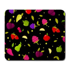 Vector Seamless Summer Fruits Pattern Colorful Cartoon Background Large Mousepads