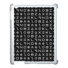 Memphis Seamless Patterns Apple Ipad 3/4 Case (white) by Vaneshart