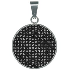 Memphis Seamless Patterns 25mm Round Necklace