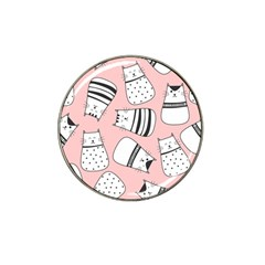 Cute Cats Cartoon Seamless Pattern Hat Clip Ball Marker