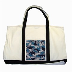 Military Seamless Pattern Two Tone Tote Bag
