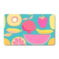 Seamless Pattern With Fruit Vector Illustrations Gift Wrap Design Magnet (rectangular)