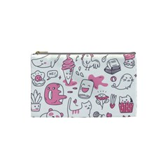 Set Kawaii Doodles Cosmetic Bag (small) by Vaneshart